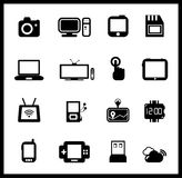 Vector set of electronic and mobile devices Royalty Free Stock Images
