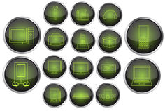 Vector set of electronics icons. Illustration of vector set of electronics icons Stock Photo