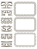 Vector set of elegant borders and frames. Vector set of elegant seamless borders and frames Royalty Free Stock Images