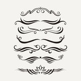 Vector set of elegant curls and swirls. Elements for design. Royalty Free Stock Photos