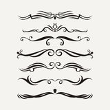 Vector set of elegant curls and swirls. Elements for design. Royalty Free Stock Image