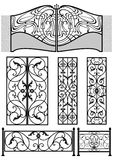 Wrought iron retro decor elements stock illustration
