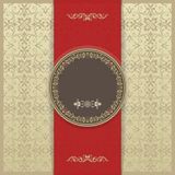Vector set of elegant vintage background with frame and certificate. Royalty Free Stock Photo