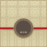 Vector set of elegant vintage background with frame and certificate. Stock Photo