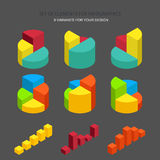 Vector set of element for infographics Royalty Free Stock Photos