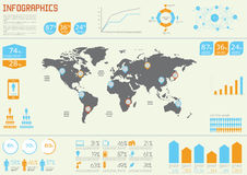 Vector Set elements of infographic Stock Photography