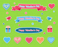 Vector Set of elements for Valentine's Day Stock Photos