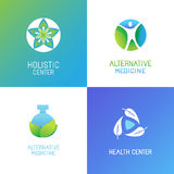 Vector set of emblems and logo design templates Royalty Free Stock Images