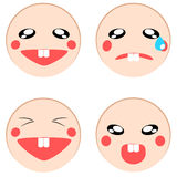 Vector set of emotion icon Stock Image
