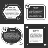 Vector set of empty quote templates. Stock Photos