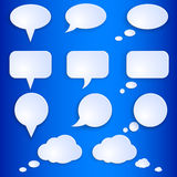 Vector Set of Empty Speech Bubbles Royalty Free Stock Image