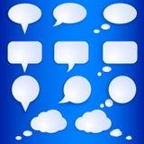 Vector Set of Empty Speech Bubbles Royalty Free Stock Image