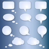 Vector Set of Empty Speech Bubbles Royalty Free Stock Images