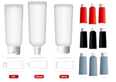 Vector set of empty tubes Stock Photography