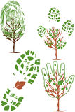 Vector set of environmental icons. And design elements: people & nature royalty free illustration