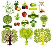 Vector set of environmental icons Royalty Free Stock Photos