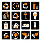 Vector set of environmental / recycling icons stock photo