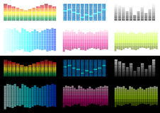 Vector Set of Equalizers Royalty Free Stock Photo
