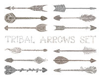 Vector set of ethnic arrows  on white background. Stock Images