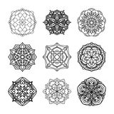 Vector set of ethnic black and white decorative patterns for design Royalty Free Stock Photo