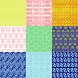 Vector set of ethnic Greek geometric and floral patterns Stock Photo