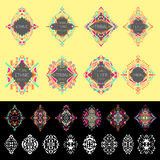 Vector set of ethno geometric patterns.  Royalty Free Stock Images