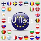 Vector set of European Union web button Royalty Free Stock Photos