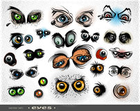 Vector set of eyes Royalty Free Stock Photography