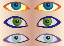Vector set eyes Stock Photography