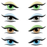 Vector set. Eyes of different colors Royalty Free Stock Images