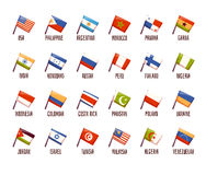 Vector set of fags. philippine, india, argentina Royalty Free Stock Photography