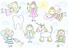 Vector set of fairies Stock Image