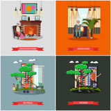 Vector set of family concept design elements in flat style. Stock Photo