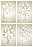 Vector set of  family tree designs Royalty Free Stock Photos