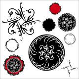 Vector set of fancy seals diamond starburst design elements stock photos