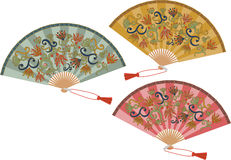 Vector set of  fans. The fans set  on white background Royalty Free Stock Images