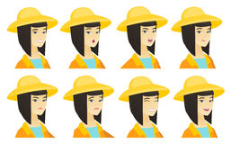 Vector set of farmer characters. Stock Photo