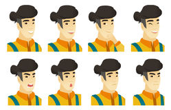 Vector set of farmer characters. Stock Image