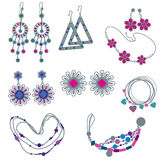 Vector set of fashion jewelry Royalty Free Stock Image
