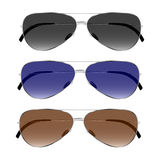 Vector set of fashion sunglasses. Royalty Free Stock Photography