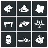 Vector Set of Fear Icons.  Stock Photos