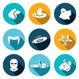 Vector Set of Fear Icons.  Royalty Free Stock Images