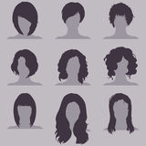 Vector Set of Female  Hairdress Royalty Free Stock Photos
