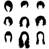 Vector Set of Female  Hairdress Stock Image