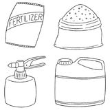 Vector set of fertilizer. Hand drawn cartoon, doodle illustration Stock Photography