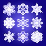 Vector set of  filigree snowflakes Stock Photo