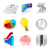 Vector set of finance 3d icons. Set of finance web icons. visit my portfolio to see similar Royalty Free Stock Photography