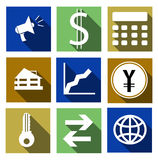 Vector set finance icons-illustration. Vector set finance icons pictograms Royalty Free Stock Photography