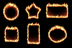 Vector set of fire frames Stock Images