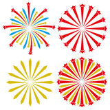 Vector set. Firework. Vector set isolated on white. Firework Stock Photos